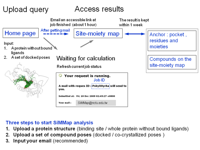 workflow of site-moiety map (SiMMap)